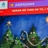 Quick Julekalender, skrabejulekalender, Danske Spil.