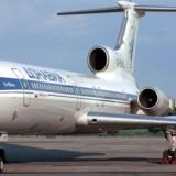 Arkivfoto der viser et såkaldte Tupolev-154 flyv. Det russiske fly, der styrtede ned juledag var af denne flytype.