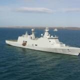 Kina deltager i fælles øvelse med Rusland i Østersøen. På billedet ses det danske krigsskib Absalon.