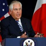 Den amerikanske udenrigsminister, Rex Tillerson.