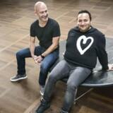 Mickey Beyer-Clausen (tv.) og Tony Hanna (th.) er to af iværksætterne bag den nye jetlag-app. Arkivfoto: Simon Skipper / Ritzau Scanpix