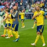 Den svenske anfører, Andreas Granqvist, efter kampen mod Schweiz, som det svenske fodboldkollektiv vandt 1-0.