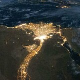 Megabyen Cairo med Nildeltaet, set fra Den Internationale Rumstation.
