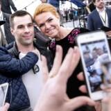 Udlændinge- og integrationsminister Inger Støjberg fotograferet ved Statsborgerskabsdagen på Christiansborg den 22. april. Hun får en central rolle i den kommende valgkamp, hvor udlændingepolitik vil fylde meget.