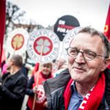 Anders Bondo Christensen fra Danmarks Lærerforening ankommer til forhandlinger i Forligsinstitutionen i København, hvor forhandlere på det statslige, kommunale og regionale område forhandler, tirsdag den 17. april 2018.