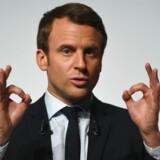 De fleste ledere i EU ser helst at den EU-positive Emmanuel Macron bliver Frankrigs næste præsident - fremfor den endog meget EU-skeptiske Marine Le Pen.