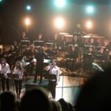 Copenhagen Phil i Konservatoriets Koncertsal, hvor orkestret 9. februar gav koncert sammen med rockbandet Mew.