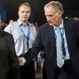 Venstres landsmøde i Odense Congress Center lørdag d. 5. oktober 2013. Her ses Bertel Haarder (th) og Lars Løkke Rasmussen. (Foto: Nikolai Linares/Scanpix 2013)