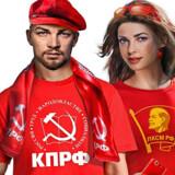 Jamen, er det ikke selveste ...? Jo. Lenin (tv.), Ruslands store revolutionshelt, har fået ny indpakning op?til valget.