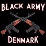 Gruppen Black Army forestiller to krydsede kalasjnikovrifler. Et medlem og fire med tilknytning til gruppen - ifølge politiet - vil tirsdag blive krævet fængslet. Free