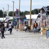 Flygtningebørn er i »overhængende fare« for at blive misbrugt, konkluderer EU-rapport. Her ses indbyggere i flygtningelejren i Calais i Frankrig.