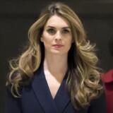 Den 29-årige Hope Hicks var i stigende grad udsat for stress, navnligt efter en række afsløringer om hendes forhold til den kompromitterede Rob Porter. Scanpix/J. Scott Applewhite