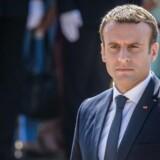 Arkivfoto. De franske aktier stiger pænt mandag morgen ovenpå Emmanuel Macrons valgsejr søndag.