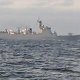 Kinesisk krigsskib i dansk farvand