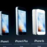 På disse iPhone-telefoner og de to iPhone 7-modeller har Apple tvangssænket hastigheden, hvis batteriet i telefonen er slidt. Fremover kan man selv vælge, om det skal fortsætte. Arkivfoto: Stephen Lam, Reuters/Scanpix