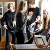 Falkonergården Gymnasium og HF-Kursus på Frederiksberg, som billedet her stammer fra, er et af 19 gymnasier landet over, hvor lærerne er udtaget til strejke i tilfælde af en storkonflikt.