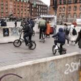 Terrorsikring på Rådhuspladsen i København.