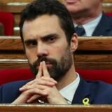 De catalanske politikere har valgt Roger Torrent fra separatistpartiet Esquerra Republicana (ERC) som formand for det regionale parlament. Reuters/Albert Gea