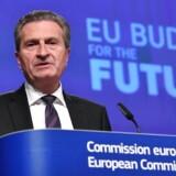 EUs budgetkommissær Günther Oettinger vil have forhandlingerne om EUs kommende budget færdig i marts næste år. Foto: Emmanuel Dunand.