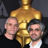 Feras Fayyad (th) og Søren Steen Jespersen er nominerede til en Oscar i kategorien bedste dokumentar. Scanpix/Mark Ralston