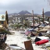 Sådan så der ud på den franske ø i Caribien, Saint-Martin, efter megaorkanen Irmas hærgen.