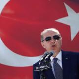 Tyrkiets præsident Recep Tayyip Erdogan i Istanbul, Tyrkiet den 25. august 2017.