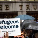 Arkivfoto: Protest mod indrejseforbuddet, New York City, 28 marts, 2017.