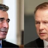 Anders Fogh Rasmussen og Letlands nationalbankdirektør, Ilmars Rimsevics. Foto: Niels Ahlmann Olesen og Ints Kalnins