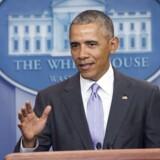 Under pressechef i Det Hvide Hus Josh Earnests sidste pressebriefing for Obama-administrationen tirsdag, var der en overraskelse på talerstolen - nemlig præsident Obama.