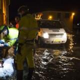Oversvømmelse på Køge Havn og området omkring åen onsdag den 4. januar 2017. (Foto: Claus Bech/Scanpix 2017)