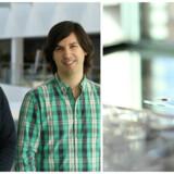 De to ITU-forskere Kasper Støy og Andres Faiña står bag Flow Robotics, som nu skal udvikle den nye, billigere og brugervenlige væskehåndteringsrobot til laboratorier. Foto: Flow Robotics