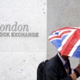 Britiske aktier fortsætter rekordkurs med ellevte stigning i træk. Arkivfoto.