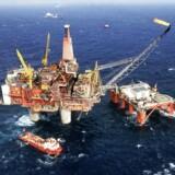 ARKIVFOTO:l Nordsøens olieplatforme. AFP PHOTO PRESSENS BILD //. (Foto: STF/Scanpix 2017)
