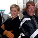 """Louise Wolff møder skuespilleren Søren Malling on location i første ombæring af DR1s nye kulturmagasin """"Gejst"""". Foto: DR."""