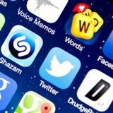 Arkivfoto: App-ikoner på en iPhone 5S.