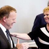 Lars Løkke rasmussen og Lizette Riisgaard mødes til anden runde af treparsforhandlingerne.