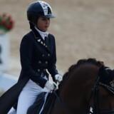 Den sydkoreanske kvinde Chung Yoo-ra er kendt i hestesportskredse og har tidligere vundet en guldmedalje ved De Asiatiske Lege i 2014. Hun har også tidligere købt en dressurhest hos et nordjysk hestesportscenter. Reuters/Kim Hong-ji