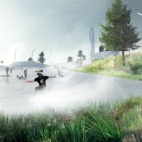 Amager Bakke er tegnet af Bjarke Ingels og BIG og har forventet åbning december 2017. Arealet på taget er på størrelse med tre en halv fodboldbaner og kommer til at rumme ski-, løbe- og gangruter. Siden på bakken bliver Europas højeste klatrevæg.