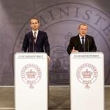 Statsminister Lars Løkke Rasmussen og udenrigsminister Kristian Jensen holder pressemøde efter den britiske EU-afstemning.