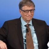 Tidligere topchef for Microsoft, Bill Gates, ser gerne en skat på robotter, så der bliver tid og penge til at få omskolet folk. Arkivfoto: Christof Stache, AFP/Scanpix