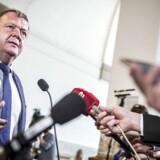Statsminister Lars Løkke Rasmussen (V) taler med presse efter den udvidet spørgetime i Folketingssalen på Christiansborg i København, tirsdag den 8. maj 2018.