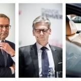 Skidt uge for Mærsks topchef Søren Skou (Foto: Søren Bidstrup), Danske Banks topchef Thomas Borgen (Foto: Ida Marie Odgaard) og Ateas bestyrelsesformand og storinvestor Ib Kunøe (Foto: Morten Germund)