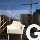 Nordhavn er blevet en magnet for flere designvirksomheder. Fra Gubis udstillingsunivers i Pakhus 53 er der rig mulighed for at følge med i det omfattende byggeri af både boliger og erhverv i området. Foto: Linda Kastrup