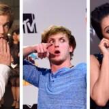 Svenske PewDiePie, amerikanske Logan Paul og Lilly Singh er blandt de YouTube-stjerner, der tjener allerflest penge.