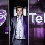 Telias topchef i Danmark, Morten Bentzen, glæder sig over at kunne holde fast i sine mobilkunder, som oven i købet bruger lidt flere penge end tidligere. Arkivfoto: Thomas Lekfeldt, Scanpix