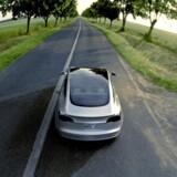 Tesla 3 er blevet kaldt Teslas folkevogn. Den befinder sig i et prisleje, hvor middelklassen over hele verden er målgruppen. Foto: EPA