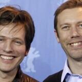 Instruktør Thomas Vinterberg ses her med skuespiller Jakob Cedergren, da Submarino blev vist ved Berlinalen i februar 2010. Submarino er baseret på Jonas T. Bengtssons roman af samme navn.
