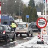 Arkivfoto: Grænsekontrol. Her ved overgangen i Padborg