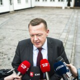 Arkivfoto: Statsminister Lars Løkke Rasmussen taler med medierne efter forhandlinger om en ny trekløverregering d. 21. november 2016 på Marienborg.