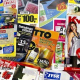 Arkivfoto: Reklamer og tilbudsaviser.